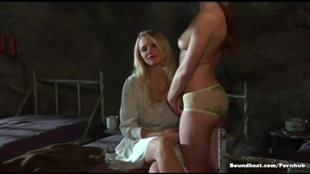 Blonde Lesbians Eating Pussy and Pleasing their Mistress