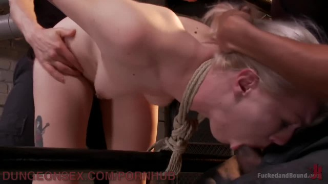 Two Monster Cocks Destroy Young Blonde