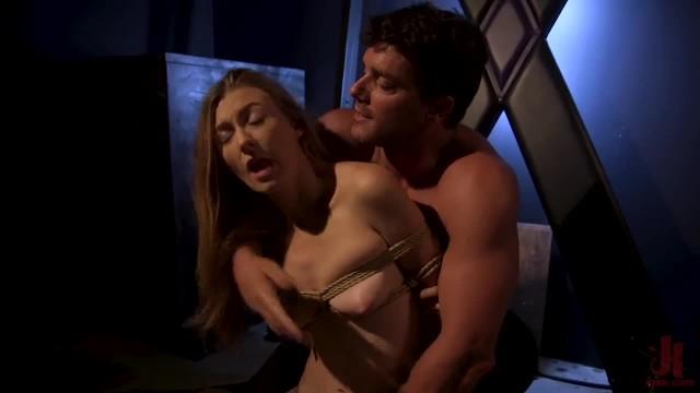 Blonde Teen Overtaken in Rope Bondage and Hardcore Fucking!