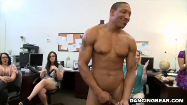 CFNM Office Party Cock Blowout with Big Dick Male Strippers