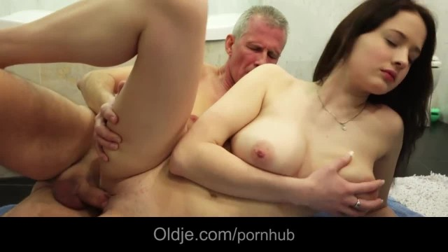 Big Breasted Young Newbie Bella Diamond Takes old Dick Cum on her Cute Face