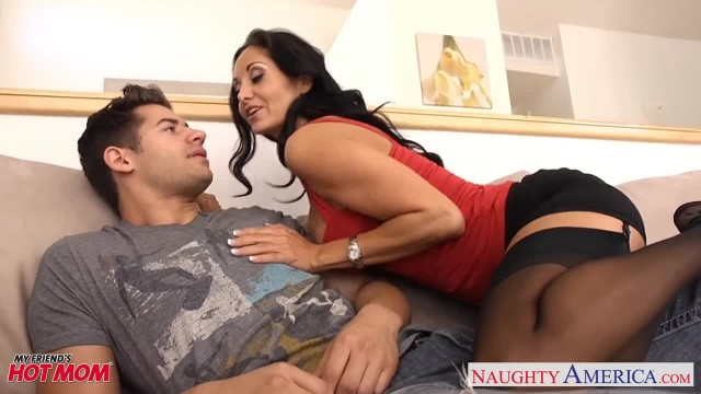 Brunette Mom in Pantyhose Ava Addams Riding Cock