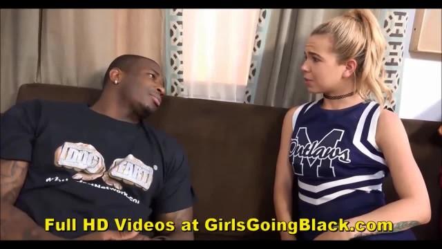 Interracial Teen Cheerleader Takes BBC Anal