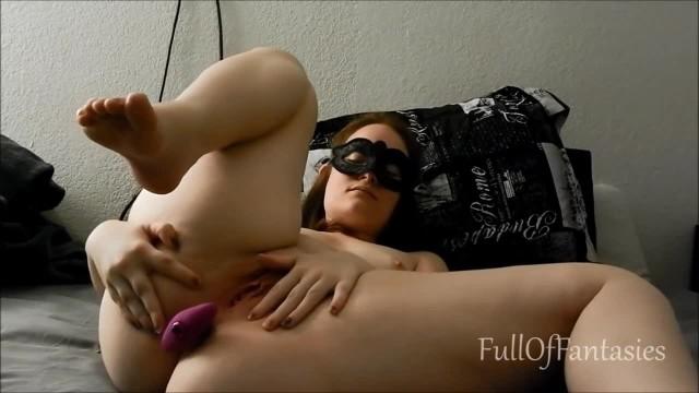 Pussy Rub with Vibrating Anal Plug