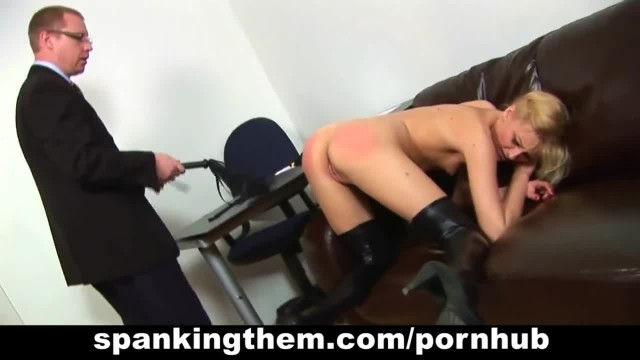 Secretary Spanked by Cruel Boss
