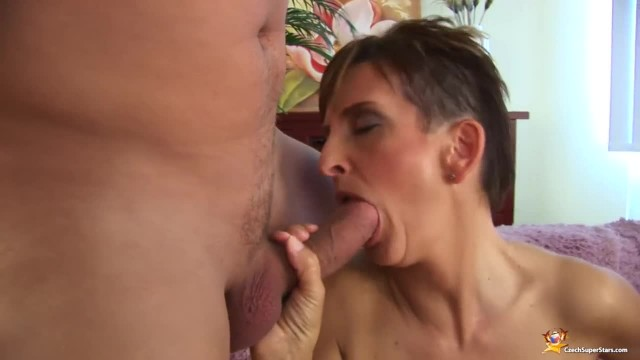 Skinny Short Haired Mom's first Big Dick