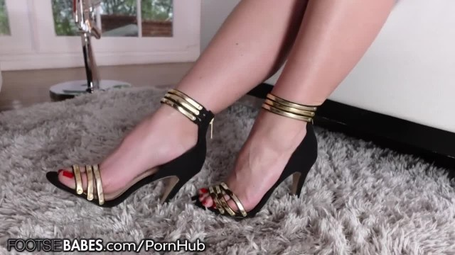 Angela White Sexy Feet Worshiped