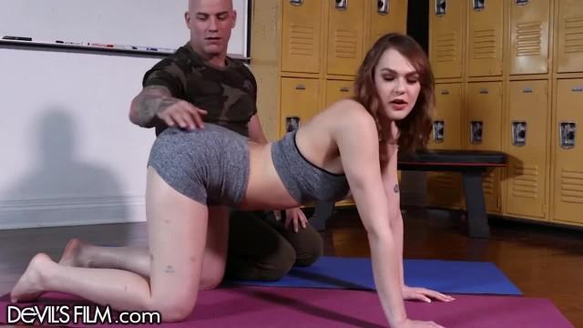 DevilsFilm Cheating Wife got her Box Slammed at Yoga