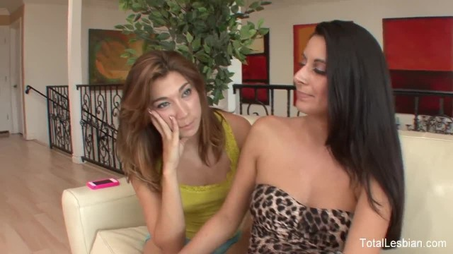 Stunning Brunettes Play Stepmom and Stepdaughter