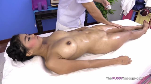 Large Natural Boobs on Asian Happy Massage