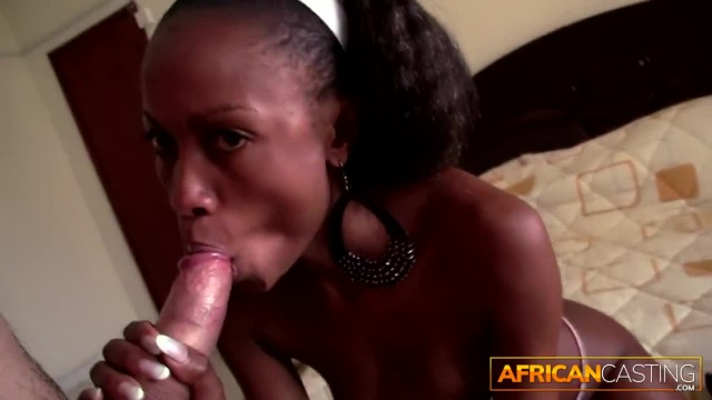 African Maid Fucked by Big White Tourist Cock