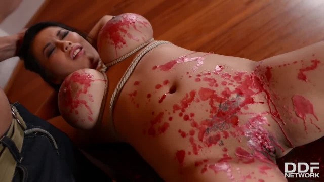 Big Boobed Asian Beauty Under Cruel Hands