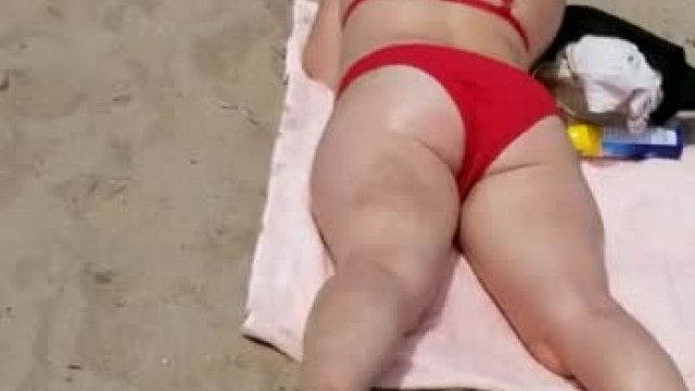 Preggo Beach Ass