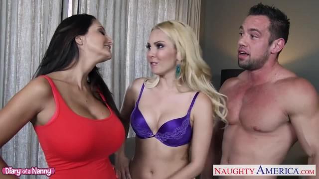 Hot Nannies Aaliyah Love and Ava Addams Sharing Cock
