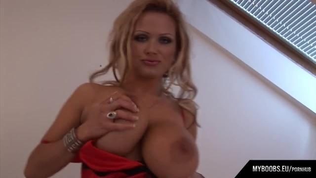 Busty MILF Sharon Pink Morning Wakeup and Start Masturbates