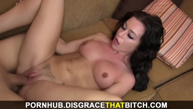 Disgrace that Bitch - NY Hottie Pays for Room with Sex