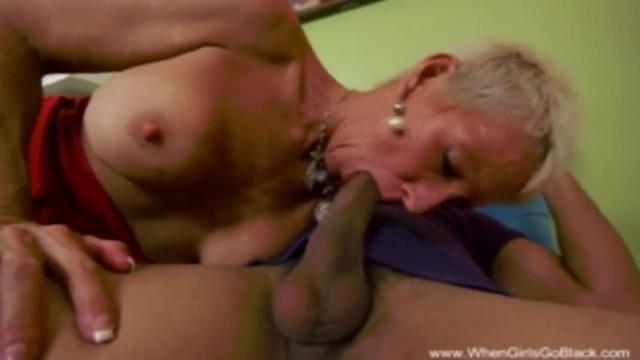 Short Hair Blonde Cougar Fucks Big Hard Cock