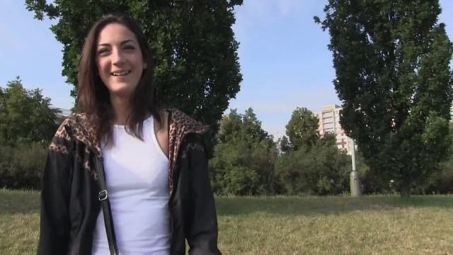 Cute Brunette Teen in her First Porn Shoot