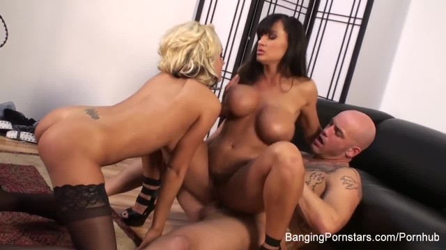 Two Busty Hot MILFS get Fucked Hard in Threesome