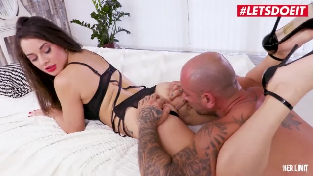LETSDOEIT - Tiny Teen Rough Anal Fuck Leaves her Ass Gaping