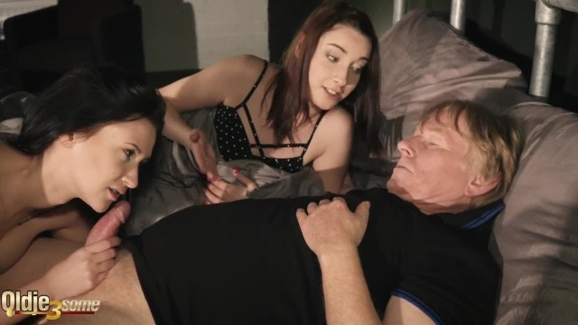Cheating Girlfriend Caught in Act Turns in Threesome with Grandpa
