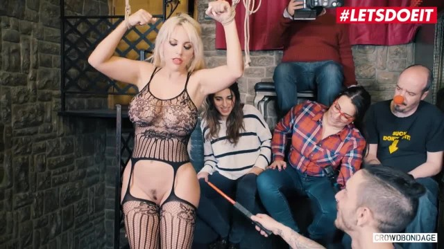 LETSDOEIT - Busty Blondie Fesser has her first Public Bondage Session