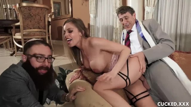 Big Tit Britney Amber Cucks her Fiance by Fucking the Cock of a Priest