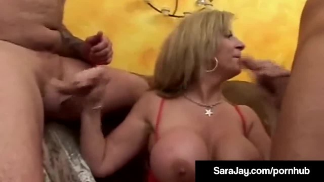 Nympho MILF Sara Jay Takes 3 Young Dicks in her Big Booty!