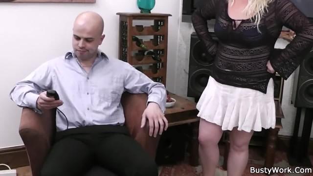 He Fucks Big Tits Blonde on the Floor