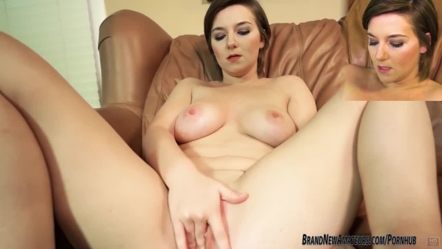 Busty Amateur Teen Kylie on Casting Couch Strips and Masturbates