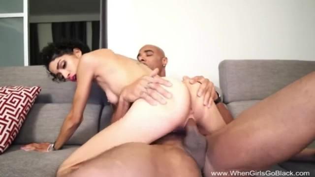 Skinny Latina Fucks Big Black Cock