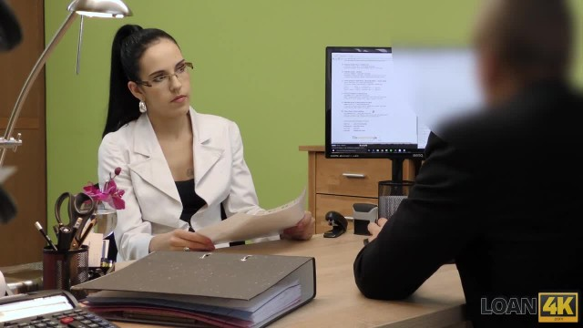 LOAN4K Agent Tells Babe that Sex is her only way to Save her Job