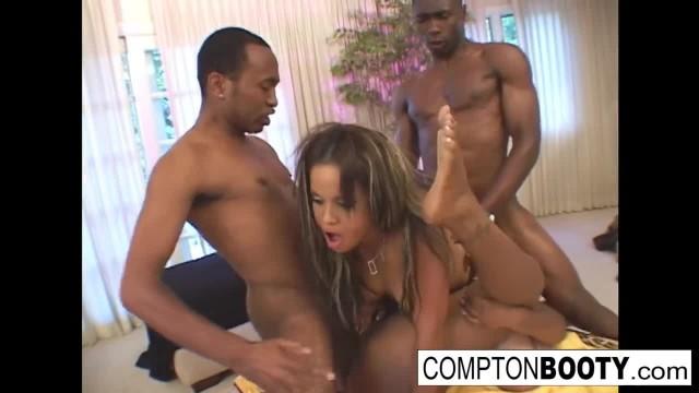 Super Hot Ebony Foursome