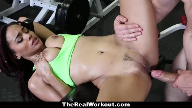 TeamSkeet - Ebony Beauty Sucks & Fucks after Workout