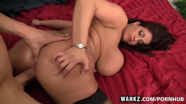 WANKZ- Super Hot Big Titty Slut Eva Notty Stroked on Bed