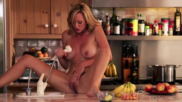 Babe - Brett Rossi Masturbates on the Kitchen Table