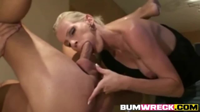 Horny Mature Blonde Wife Pegging Hubby