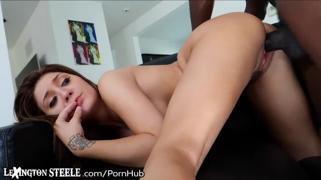 Lex Steeles Massive Shaft Barely Fits her Hole