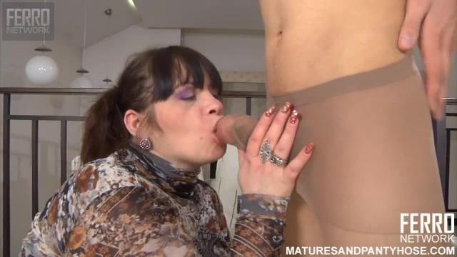 Pantyhose Fetish with Russian BBW Mature Caroline M.