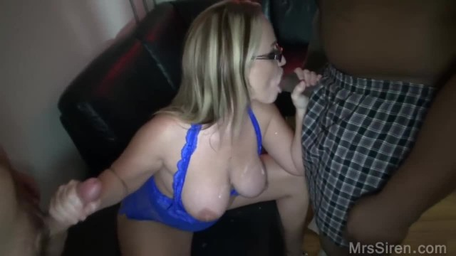 Blonde Wife Blowbanged at Club
