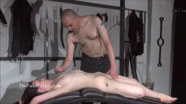 Brutal sub Blowjobs and Rough Slave Sex of Play Piercing Masochist in sub