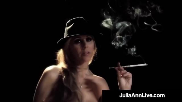 Broadway BJ MIlf Julia Ann Sucks Cigar & Cock on Stage!