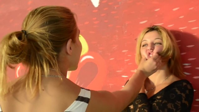 Bossy Girl Slaps her Bitch - Euro Lezdom