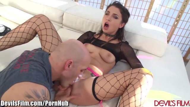 Asian Masturbates and Fucked as old Guy Watches