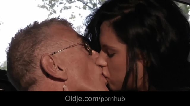 Horny old Man Spies and Fuck Young Brunette at Gym
