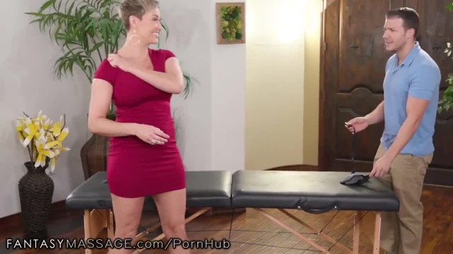 FantasyMassage Voluptuous MILF Boss Offers herself for Practice