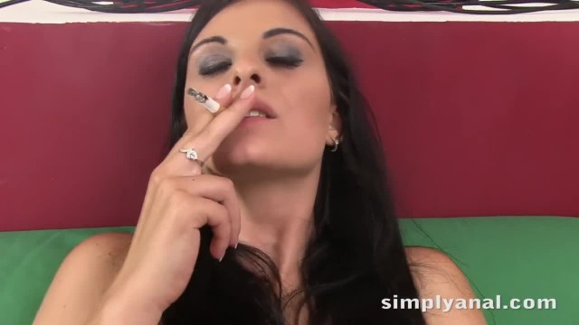 Teen Anal - Dark Haired Alice Nice gets Ass Fucked after Sucking Cock