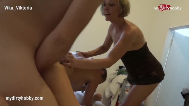 MyDirtyHobby - MILF Wife Caught him Cheating and went with it