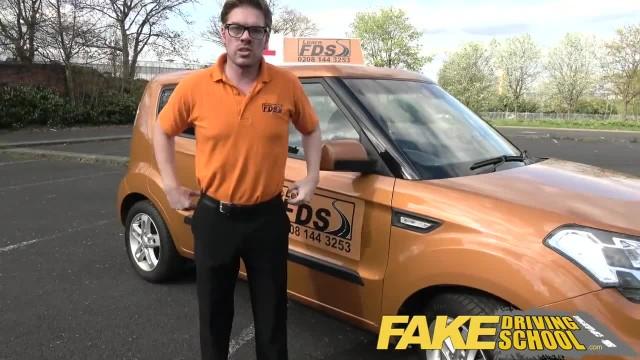 Fake Driving School Teacher Fucks up the Exam for his Pert Tits Student