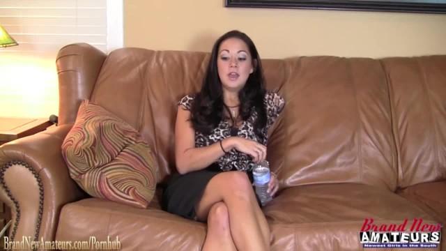 Hot Big Boob Amateur Girl Masturbates at her Interview